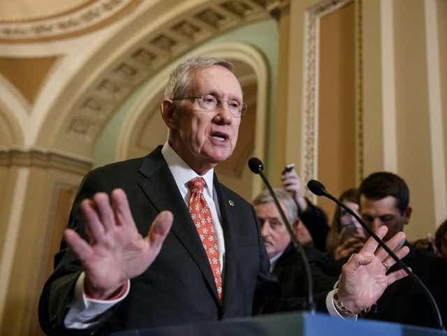 Sen. Harry Reid, D-Nev., on Capitol Hill. Reid has since retired from politics.