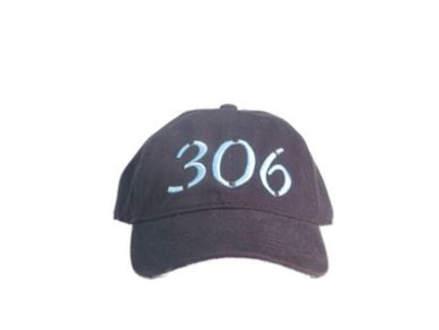 A hat with the 306 logo.