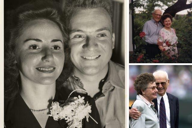 Ernie and Lulu Harwell, through the years