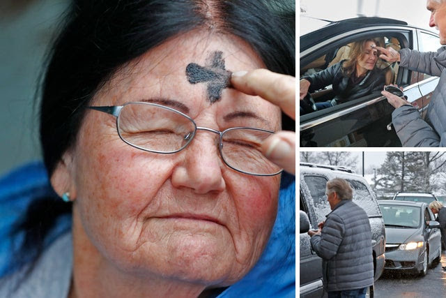 Ash Wednesday: Indiana church provides drive-thru Imposition of Ashes