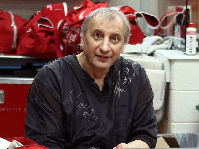Sergei Tchekmarev, longtime and popular Red Wings masseur. Feb. 19. He was 65.