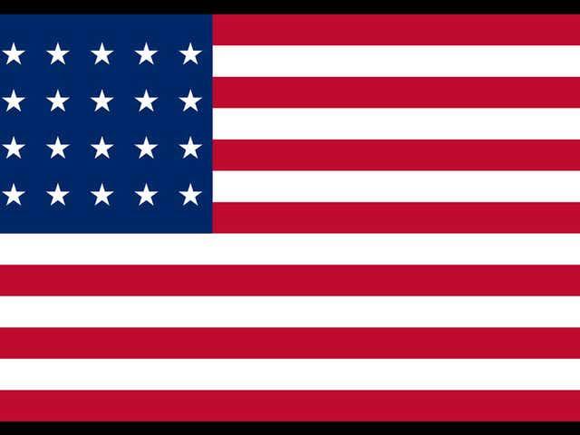 Twenty-Eight Star U.S. Flag