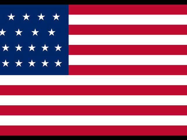 Twenty-Five Star U.S. Flag