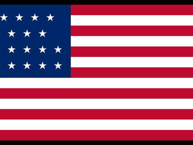 Twenty-One Star U.S. Flag