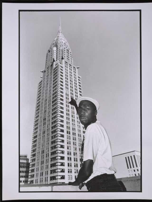 Grandmaster Flash at the Chrysler Building in New York on Aug. 27, 1991.