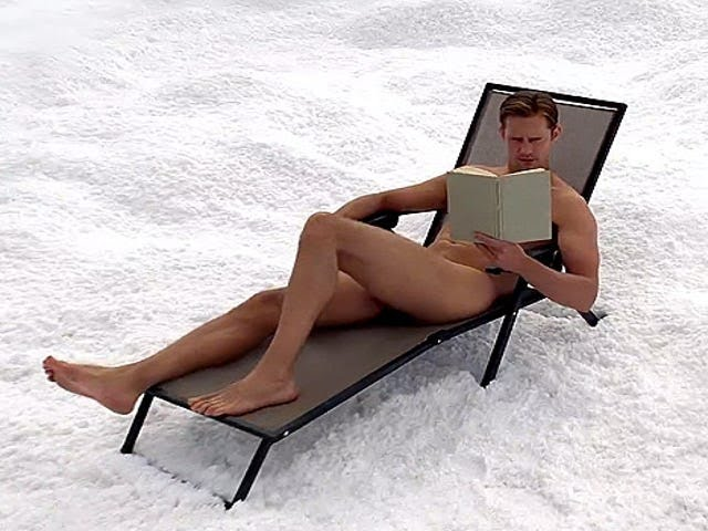 Alexander Skarsgård / Eric Northman reading a book